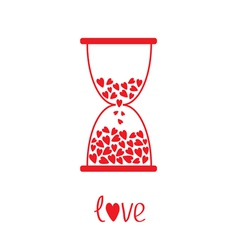 Love hourglass with hearts inside Card vector image