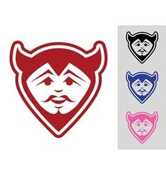 Devil Face Mascot vector image