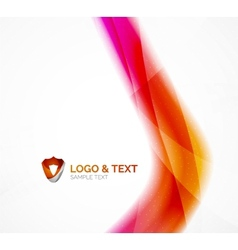 Business wave purple and orange vector image