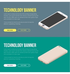Modern banner with smartphone vector