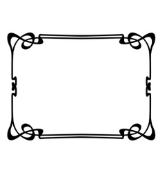 art nouveau ornamental decorative frame vector image