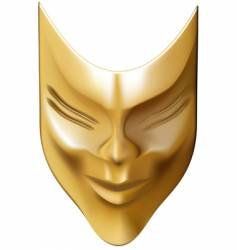 Bronze mask vector
