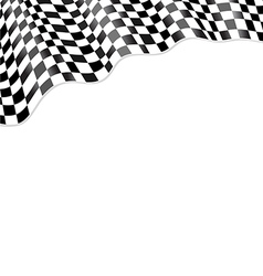 Checkered black flag racing vector image