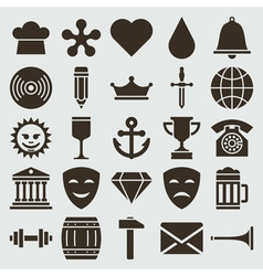 Vintage retro icons set vector image