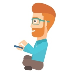 Man using mobile phone vector