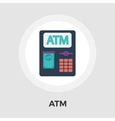 Atm flat icon vector