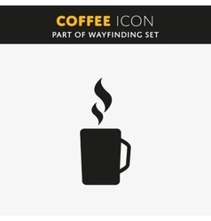 Coffee icon vector