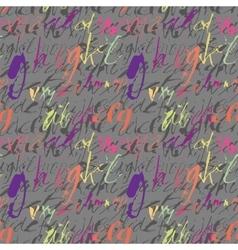 Alphabet seamless pattern vector image
