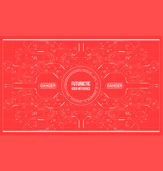 background with futuristic user interface vector image vector image