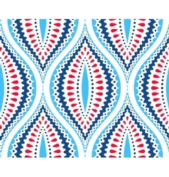 Blue and red decorative pattern vector