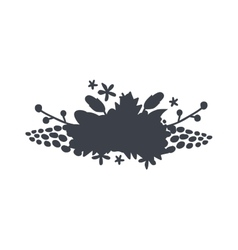 circular floral wreaths with leaves central vector image vector image