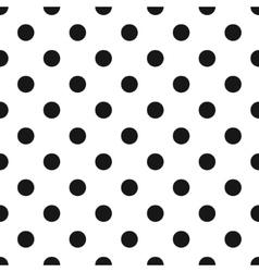 Classic polka dot pattern vector