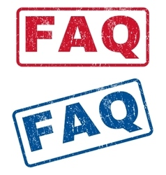 Faq rubber stamps vector