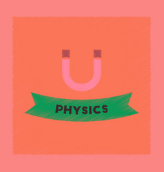 Flat shading style icon physics lesson vector