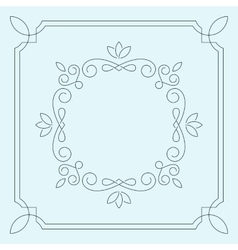 Floral frame monogram vector