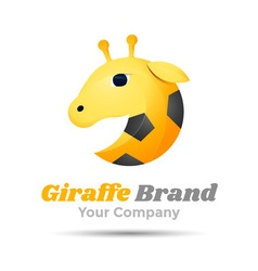 Giraffe Volume Logo Colorful 3d Design Corporate vector image vector image