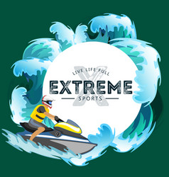 jet ski water extreme sports isolated design vector image vector image