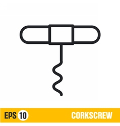 line icon corkscrew vector image vector image