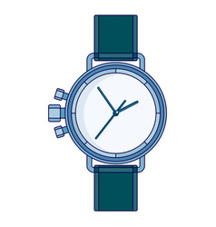 lines wristwatch image vector image