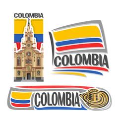 logo colombia vector image