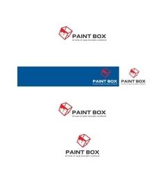 Paint box logo vector