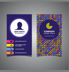 patterned business card vector image