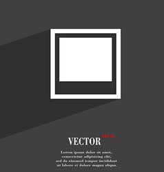 Photo frame template icon symbol flat modern web vector