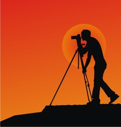 Photographer Silhouettes vector image vector image