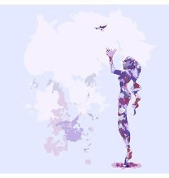 portrait watercolor lilac vector image vector image
