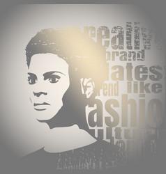 silhouette of a female head fashion keywords vector image