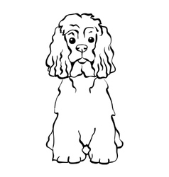sketch funny dog sitting vector image vector image