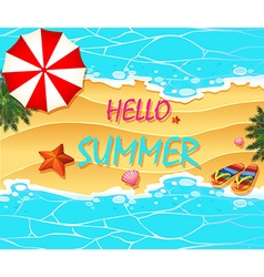 Summer holiday on the beach vector image vector image