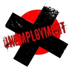 Unemployment rubber stamp vector image vector image