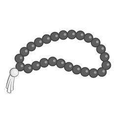 Beads icon gray monochrome style vector