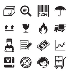 Logistic delivery icons vector