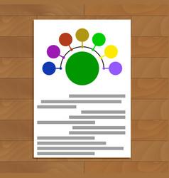 round scheme document vector image
