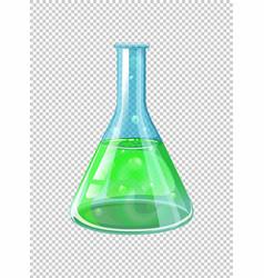 Green chemical in beaker vector