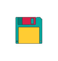 Magnetic floppy disc vector