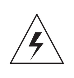 Thin line electrical sign icon vector