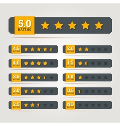 Rating stars badges vector