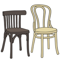 Old chairs vector