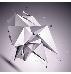 3d modern cybernetic abstract background origami vector