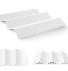 Blank white paper template vector image
