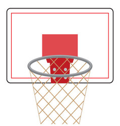Basketball board and ring vector