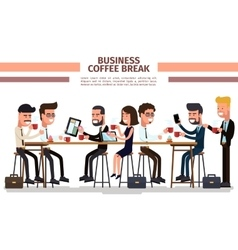 Business coffee break vector