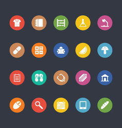 Glyphs colored icons 24 vector