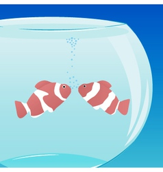 Love in aquarium vector
