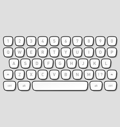 Keyboard keys vector image