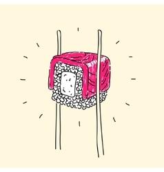 Rolls japanese cuisine vector