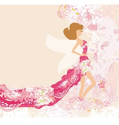 Abstract Beautiful floral Woman vector image vector image